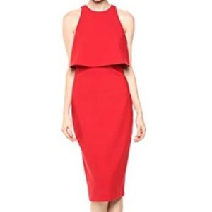 NWT Likely Shayna Layered Red Cocktail Dress